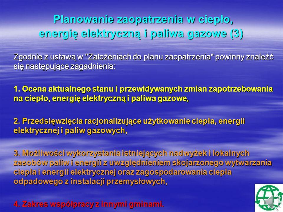 Planowanie zaopatrzenia w ciepło, energię elektryczną i paliwa gazowe (3)