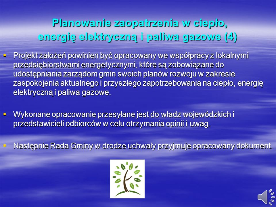 Planowanie zaopatrzenia w ciepło, energię elektryczną i paliwa gazowe (4)