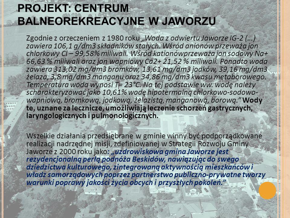 PROJEKT: CENTRUM BALNEOREKREACYJNE W JAWORZU