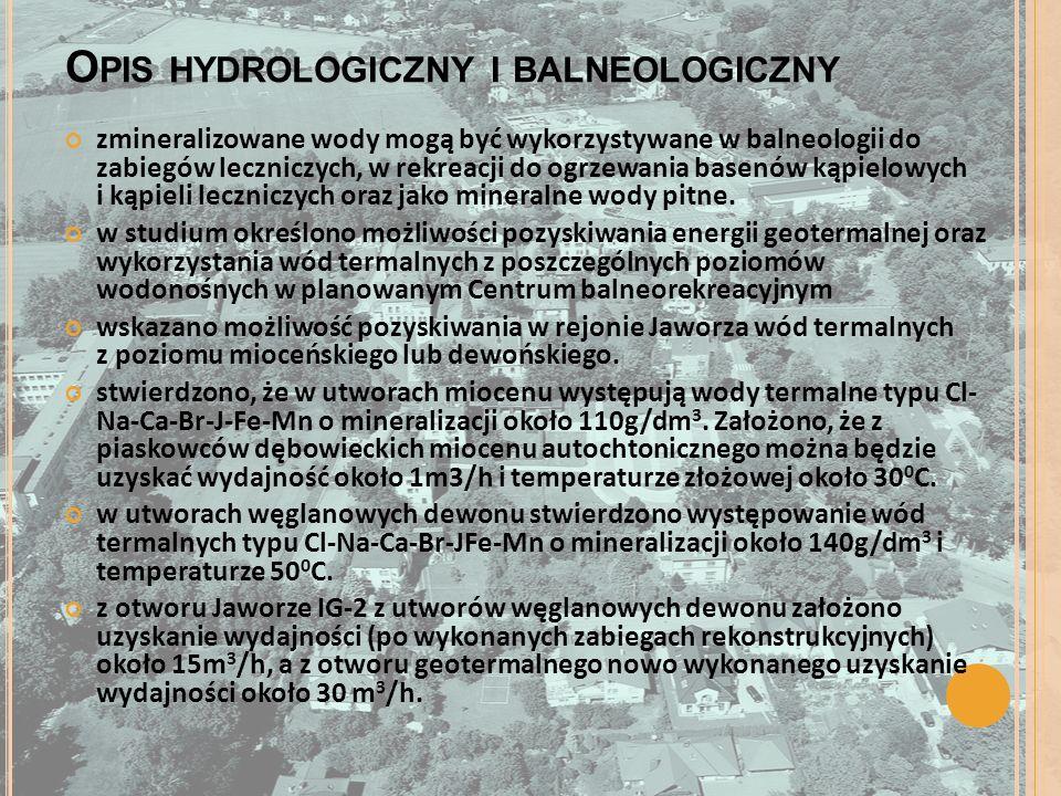 Opis hydrologiczny i balneologiczny