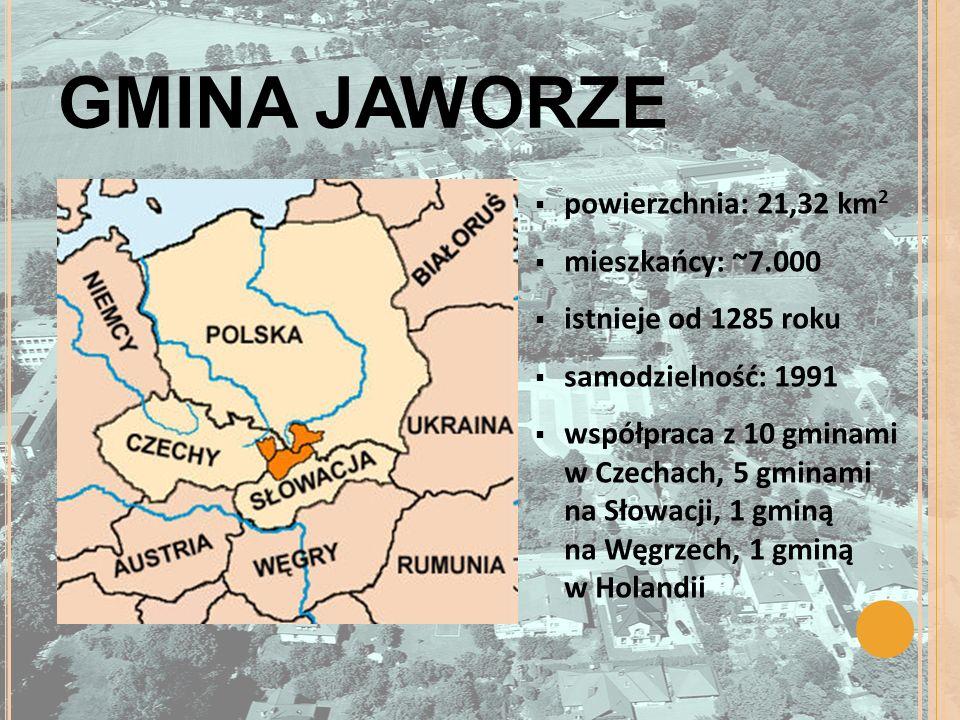 GMINA JAWORZE powierzchnia: 21,32 km2 mieszkańcy: ~7.000