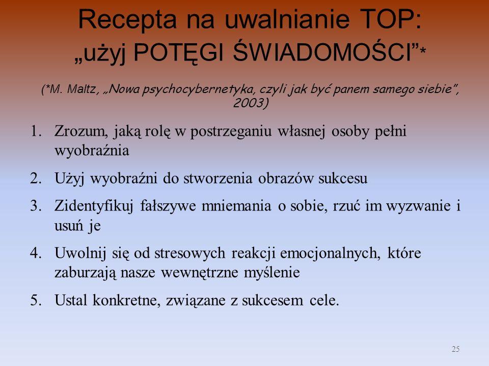 """Recepta na uwalnianie TOP: """"użyj POTĘGI ŚWIADOMOŚCI . (. M"""