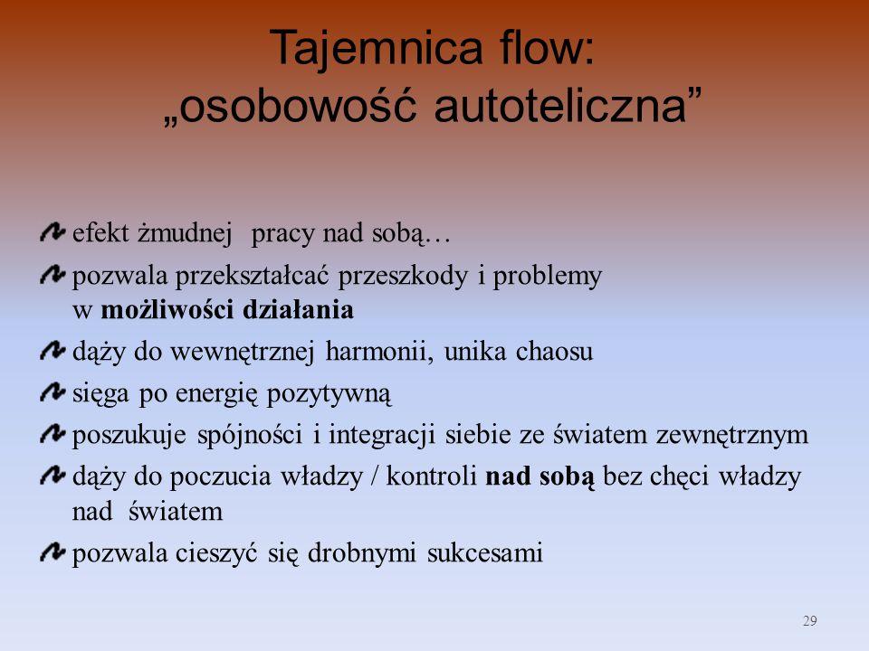 """Tajemnica flow: """"osobowość autoteliczna"""