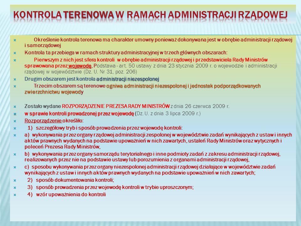 Kontrola terenowa w ramach administracji rządowej