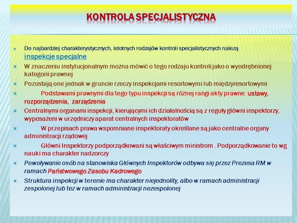 Kontrola specjalistyczna