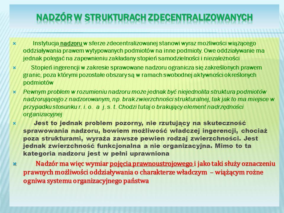 Nadzór w strukturach zdecentralizowanych