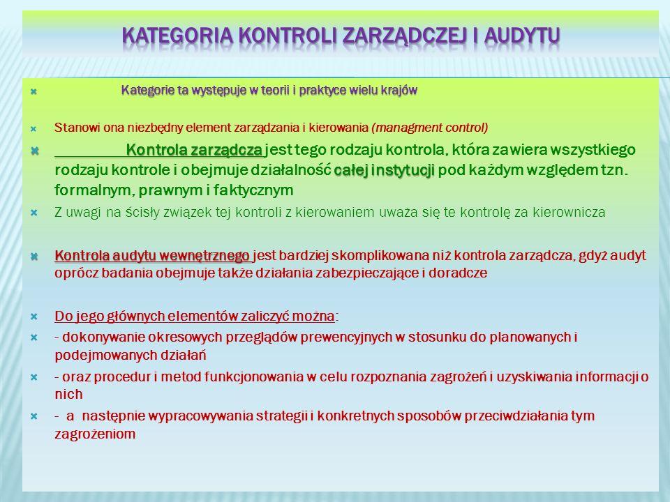 Kategoria kontroli zarządczej i audytu