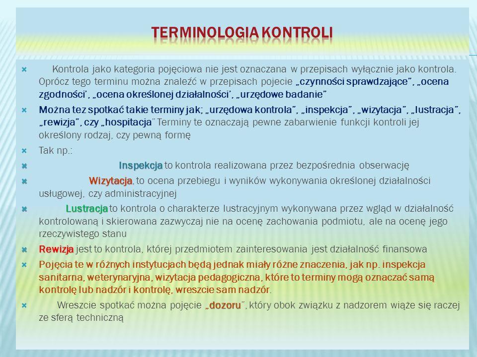 Terminologia kontroli