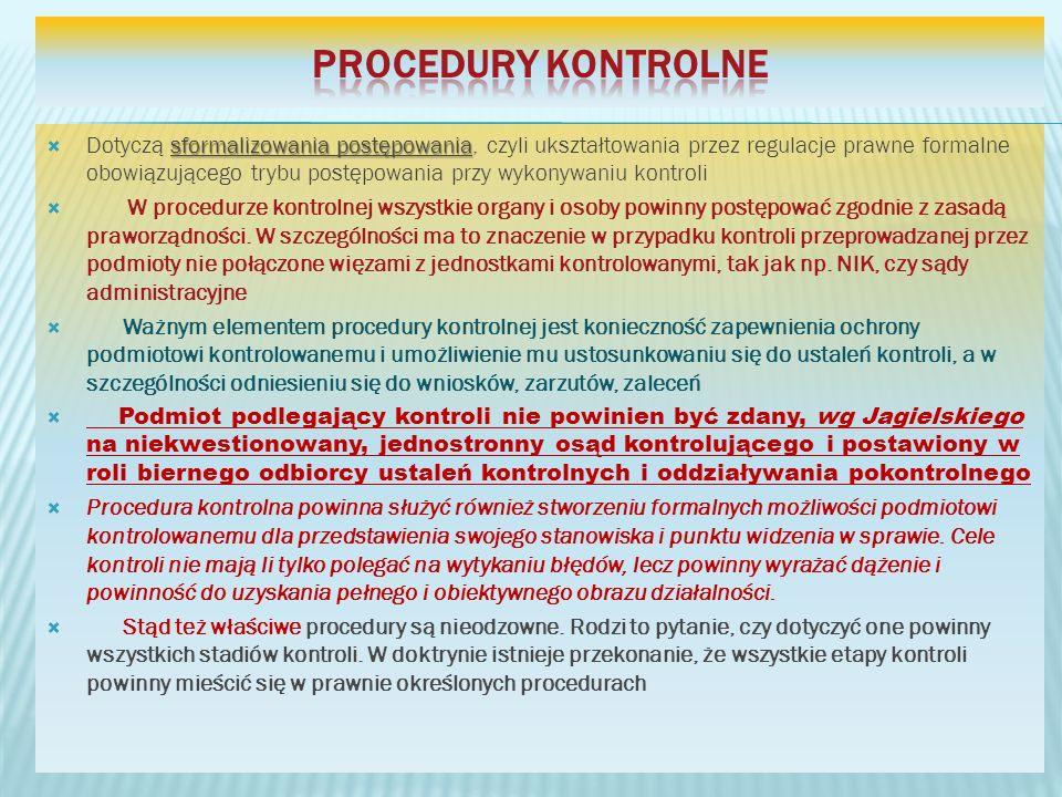 Procedury kontrolne