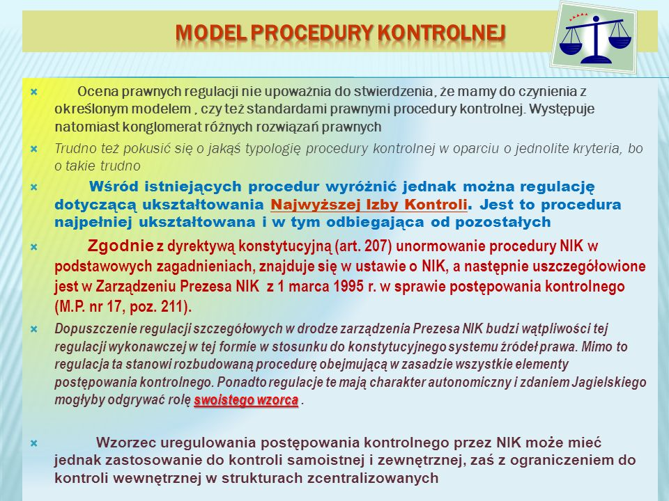 Model procedury kontrolnej