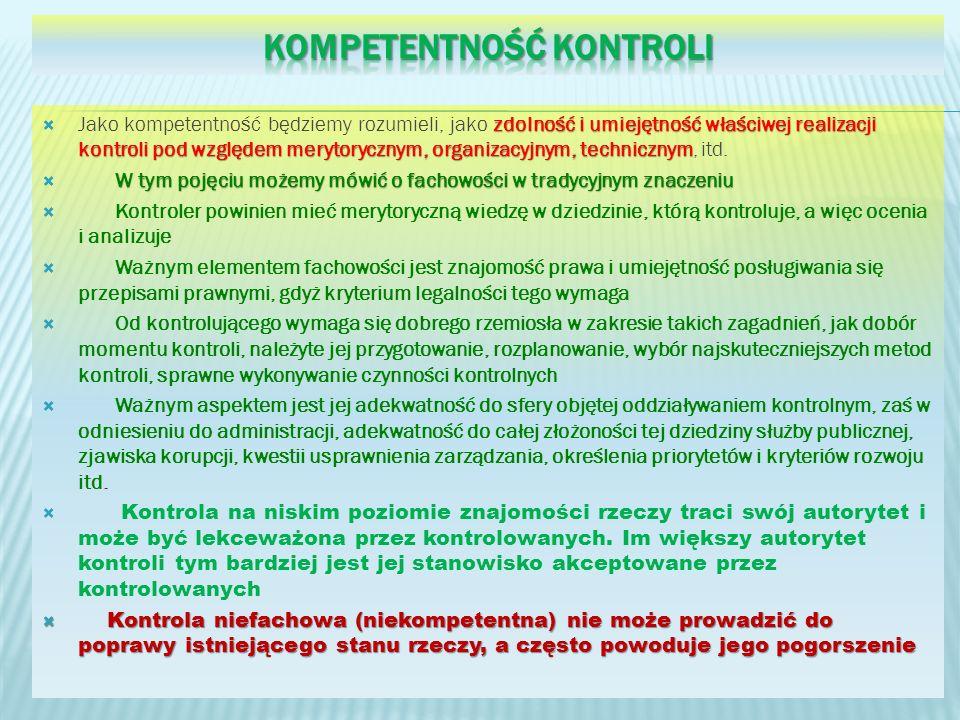 kompetentność kontroli