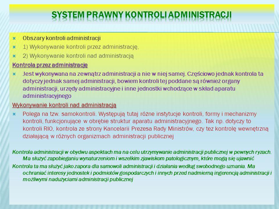 System prawny kontroli Administracji