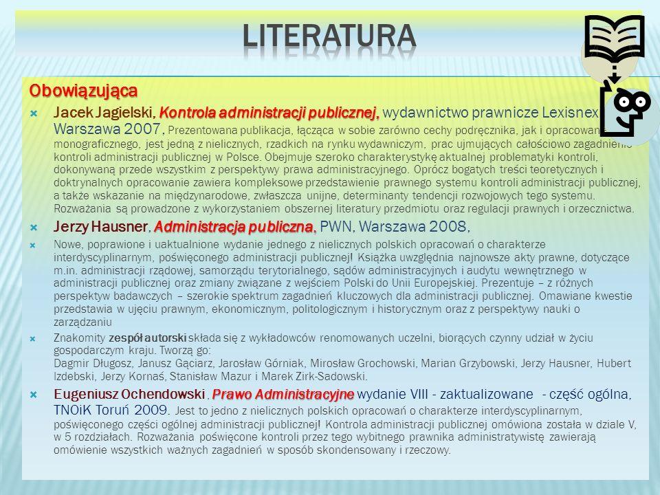 Literatura Obowiązująca