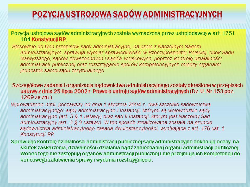 Pozycja ustrojowa sądów administracyjnych