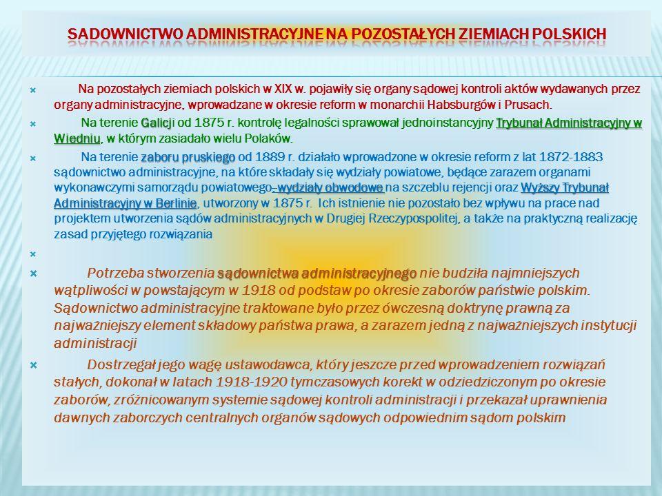 Sadownictwo administracyjne na pozostałych ziemiach polskich