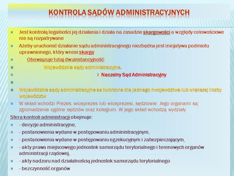 Kontrola sądów administracyjnych