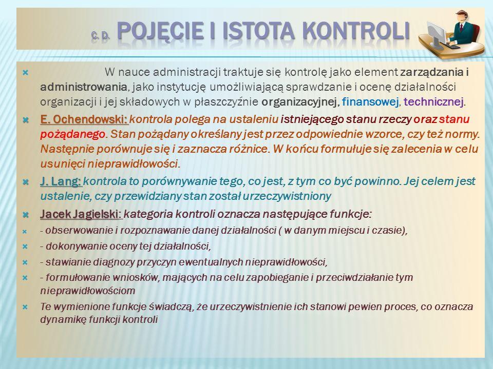 c. d. Pojęcie i istota kontroli