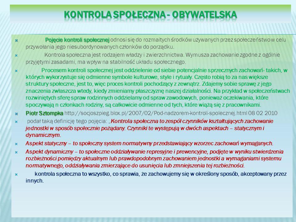 Kontrola społeczna - obywatelska