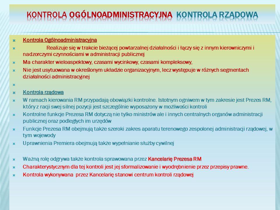 Kontrola Ogólnoadministracyjna kontrola rządowa