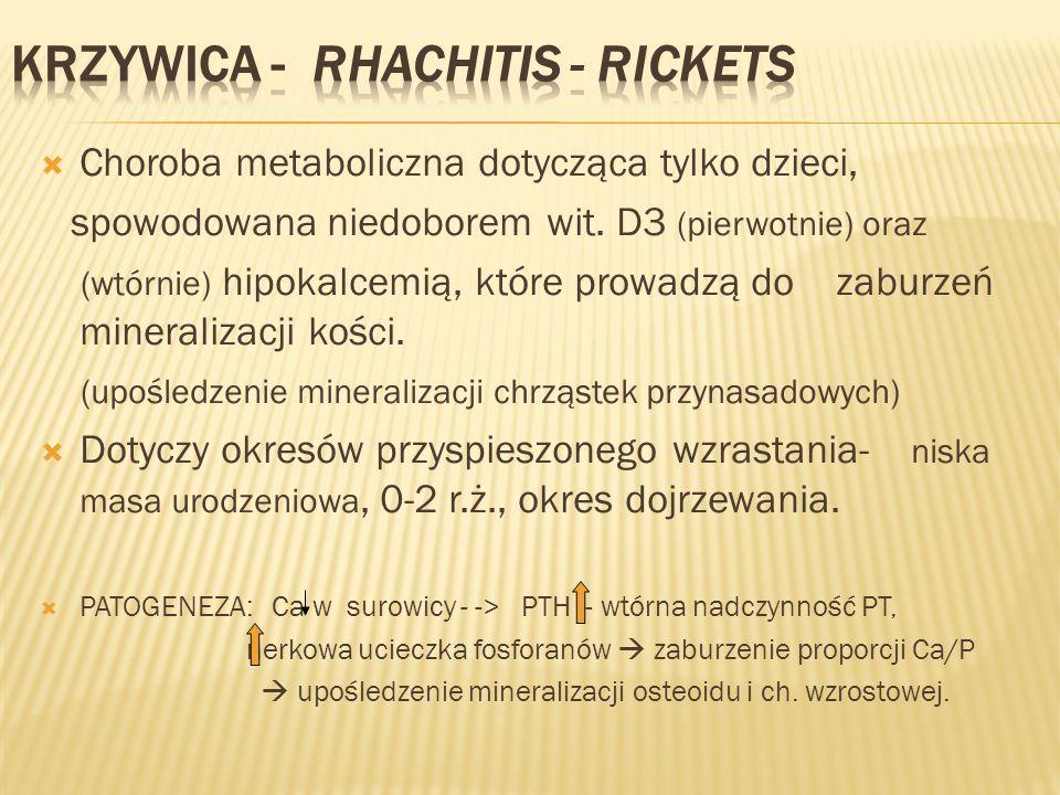 KRZYWICA - Rhachitis - Rickets