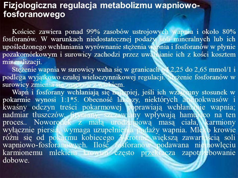 Fizjologiczna regulacja metabolizmu wapniowo-fosforanowego
