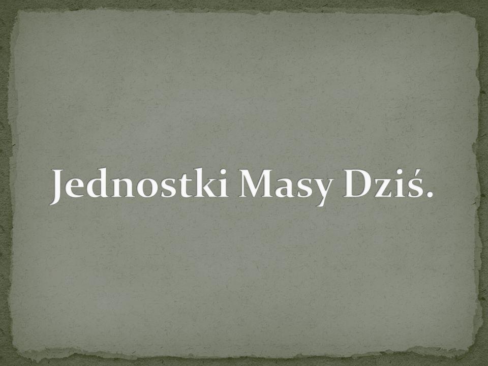 Jednostki Masy Dziś.