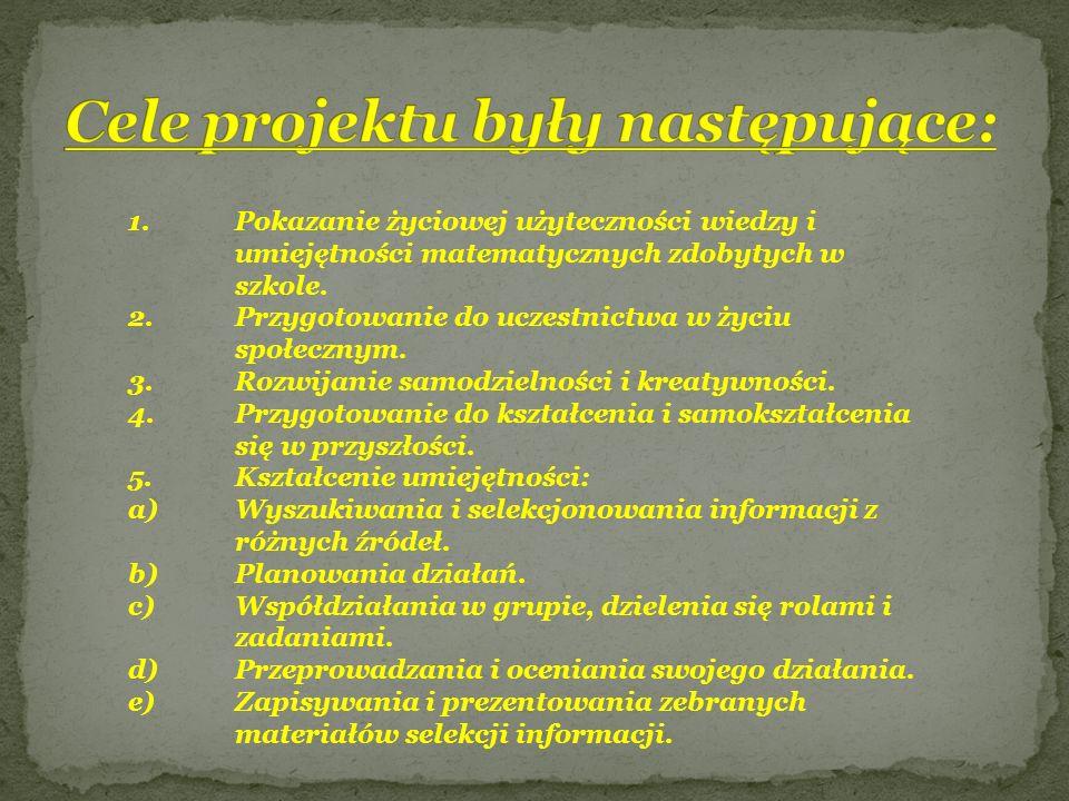Cele projektu były następujące: