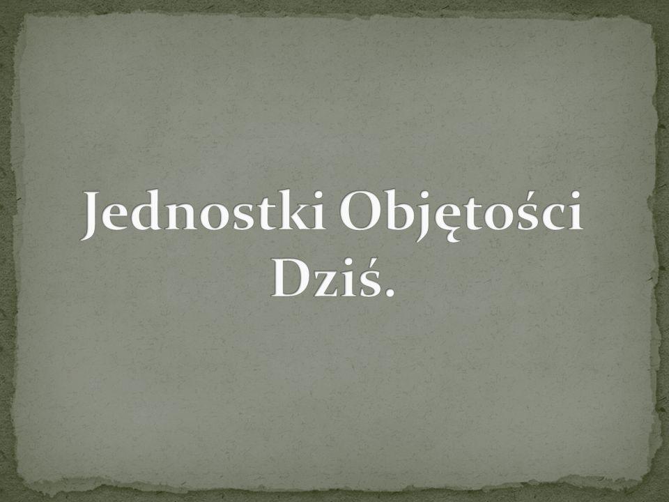 Jednostki Objętości Dziś.