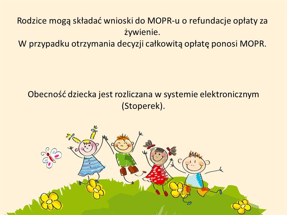W przypadku otrzymania decyzji całkowitą opłatę ponosi MOPR.