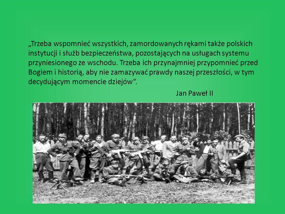 """""""Trzeba wspomnieć wszystkich, zamordowanych rękami także polskich instytucji i służb bezpieczeństwa, pozostających na usługach systemu przyniesionego ze wschodu."""