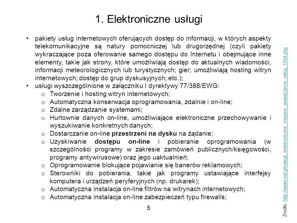 1. Elektroniczne usługi