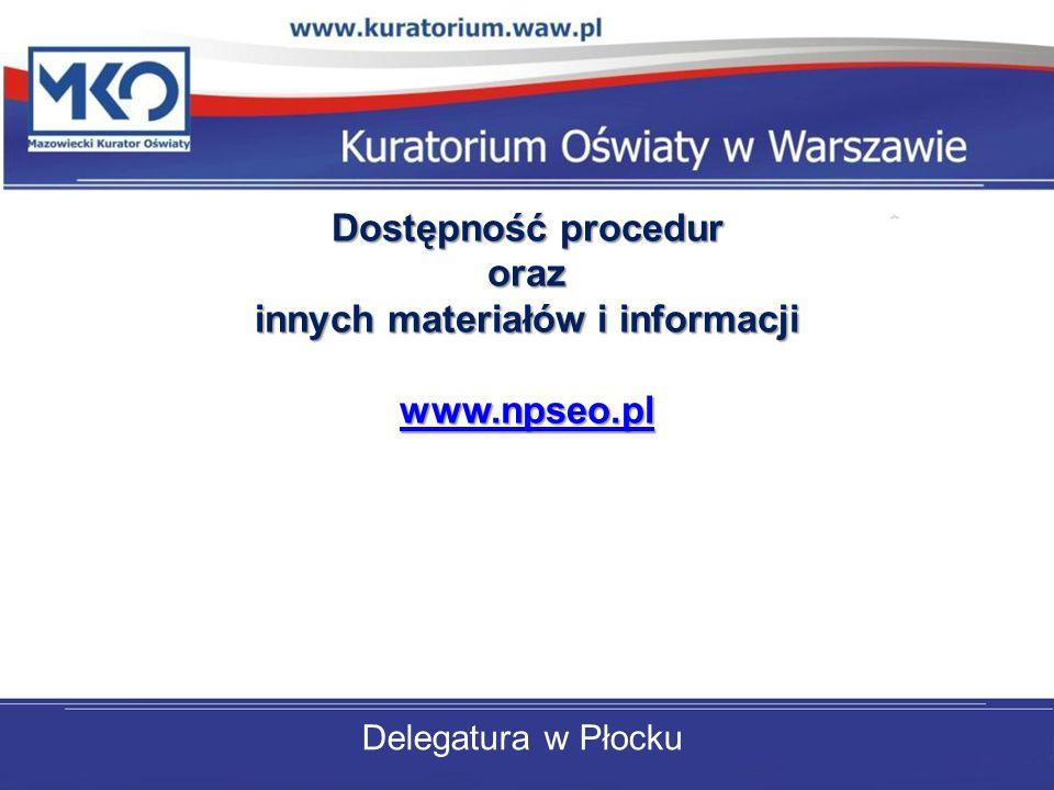 innych materiałów i informacji