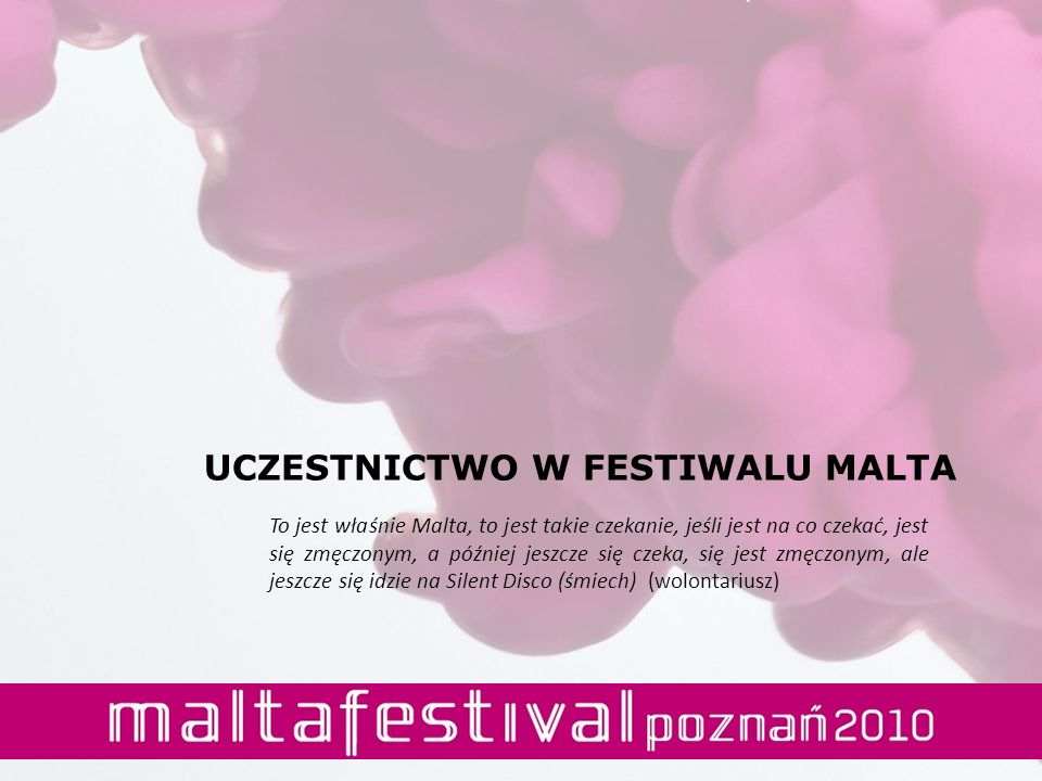 UCZESTNICTWO W FESTIWALU MALTA
