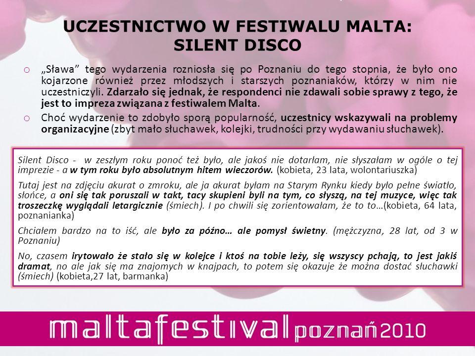 UCZESTNICTWO W FESTIWALU MALTA: SILENT DISCO