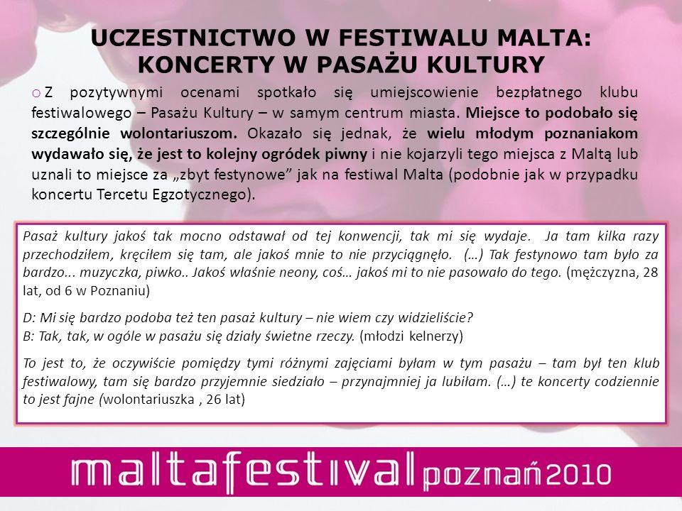 UCZESTNICTWO W FESTIWALU MALTA: KONCERTY W PASAŻU KULTURY