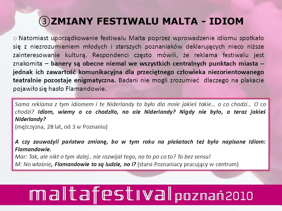 ZMIANY FESTIWALU MALTA - IDIOM
