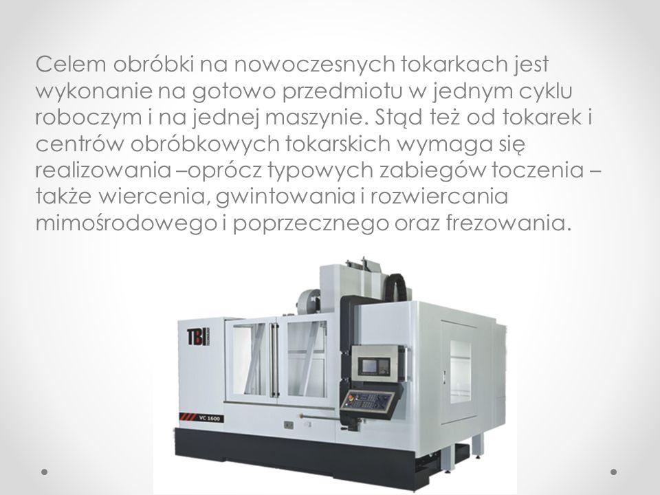 Celem obróbki na nowoczesnych tokarkach jest wykonanie na gotowo przedmiotu w jednym cyklu roboczym i na jednej maszynie.
