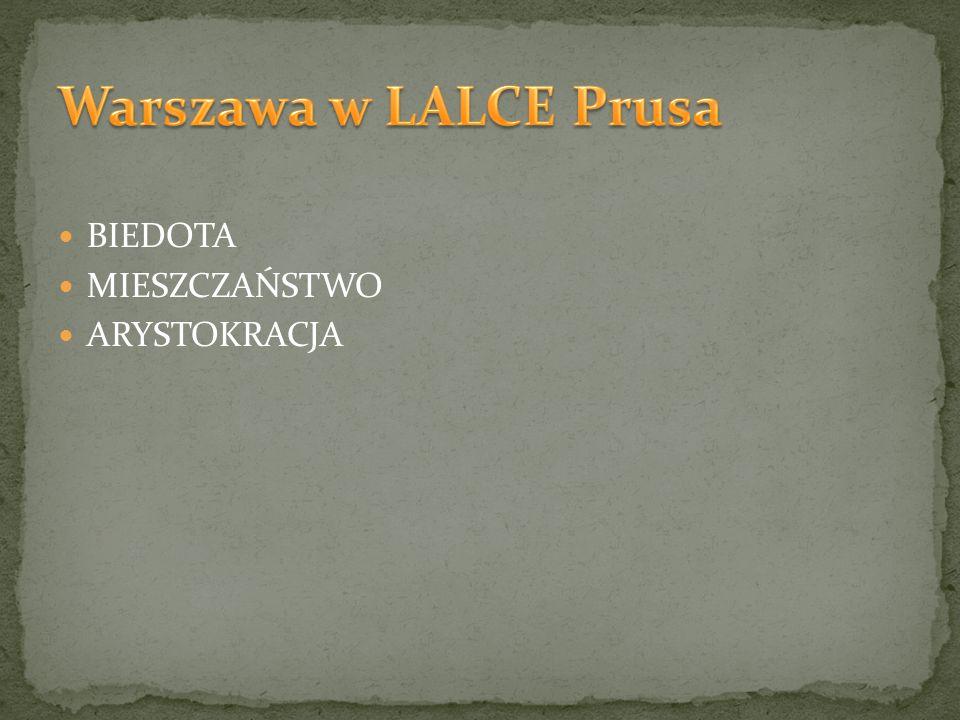 Warszawa w LALCE Prusa BIEDOTA MIESZCZAŃSTWO ARYSTOKRACJA