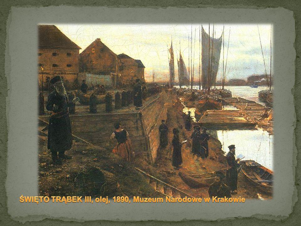 ŚWIĘTO TRĄBEK III, olej, 1890, Muzeum Narodowe w Krakowie