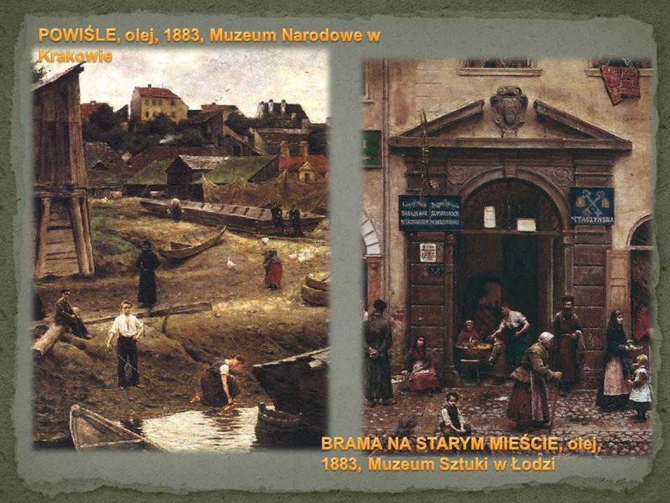 POWIŚLE, olej, 1883, Muzeum Narodowe w Krakowie