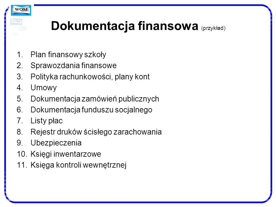 Dokumentacja finansowa (przykład)