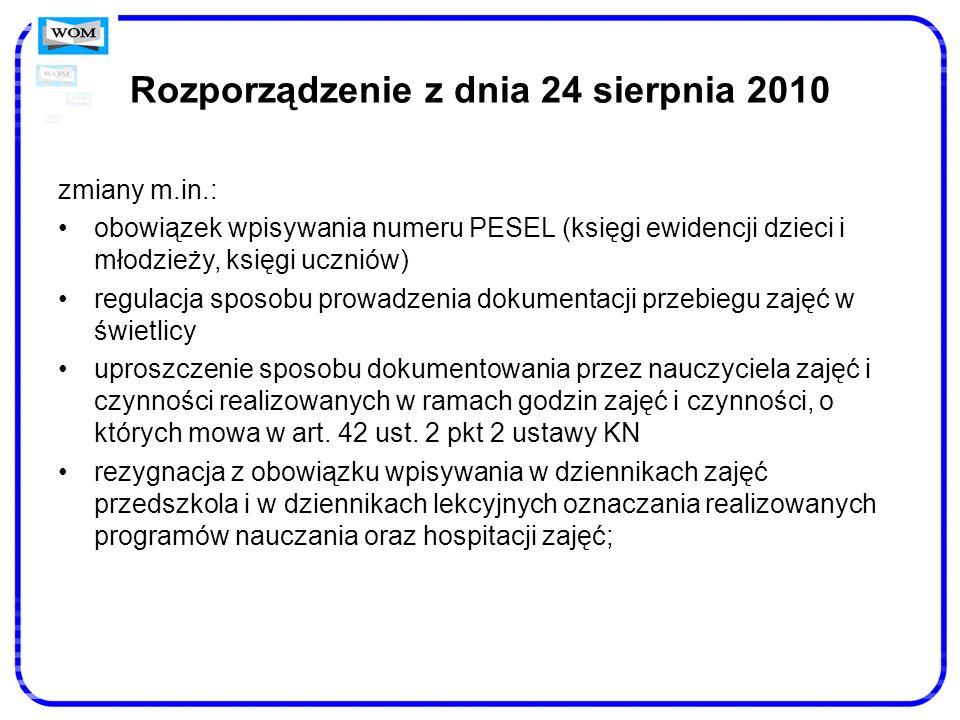 Rozporządzenie z dnia 24 sierpnia 2010