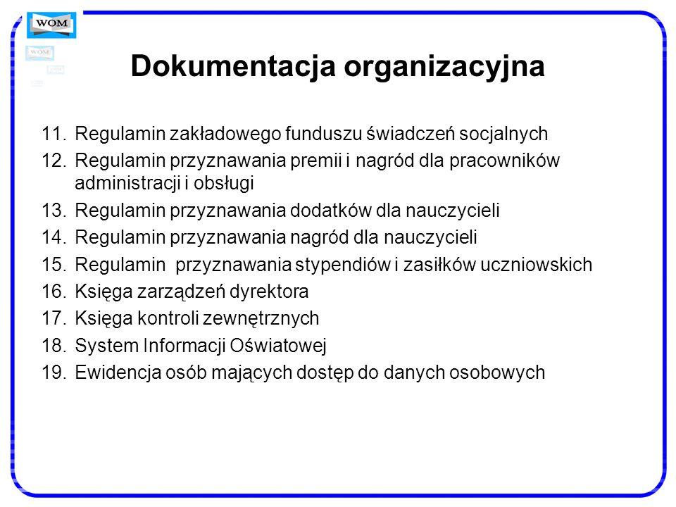 Dokumentacja organizacyjna