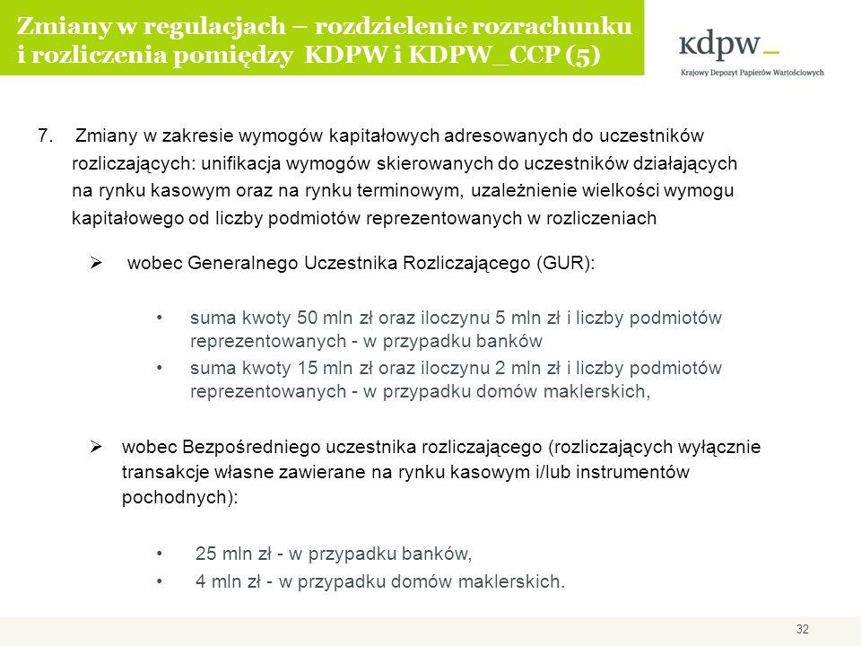 Zmiany w regulacjach – rozdzielenie rozrachunku i rozliczenia pomiędzy KDPW i KDPW_CCP (5)