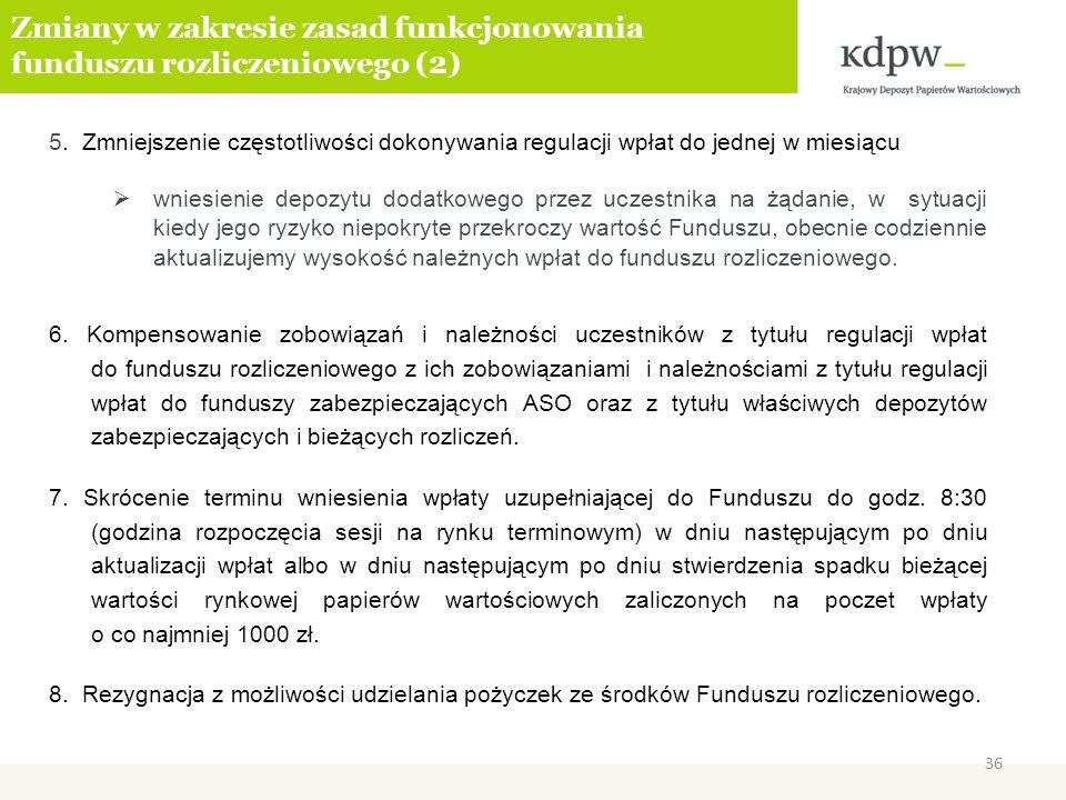 Zmiany w zakresie zasad funkcjonowania funduszu rozliczeniowego (2)
