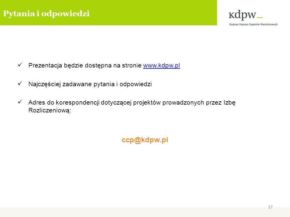 Pytania i odpowiedzi ccp@kdpw.pl