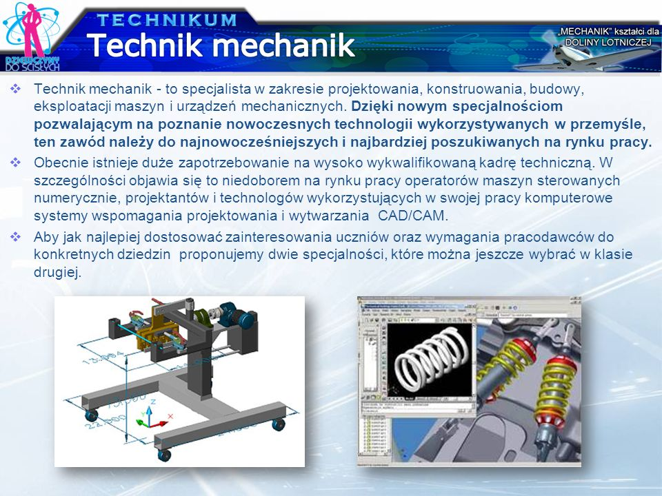 Technik mechanik TECHNIKUM