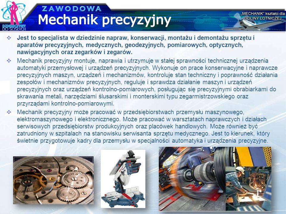 Mechanik precyzyjny ZAWODOWA