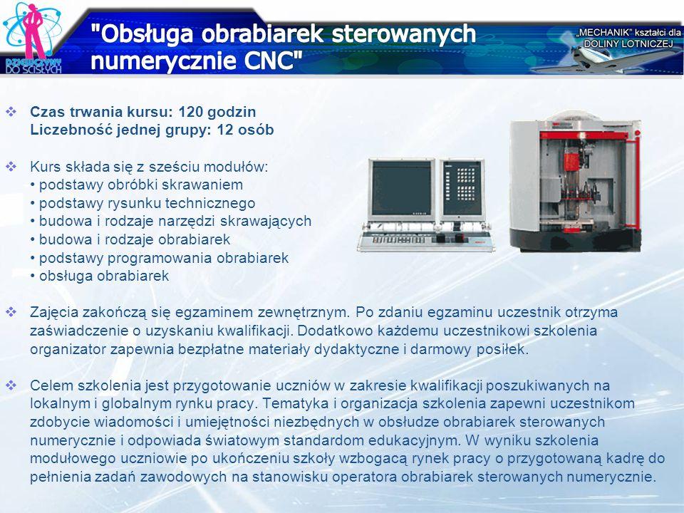 Obsługa obrabiarek sterowanych numerycznie CNC
