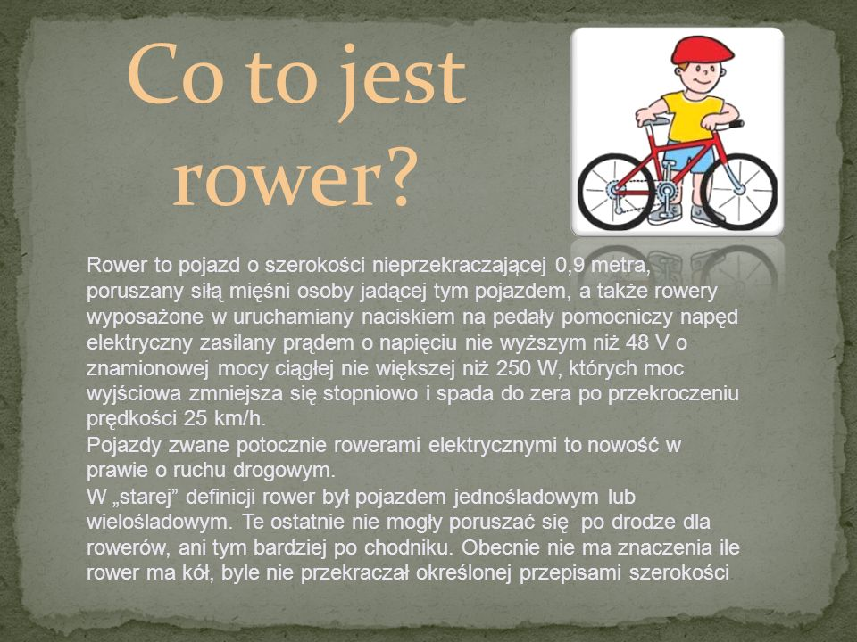 Co to jest rower